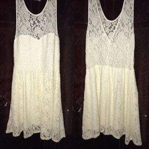 White Floral Bethany Mota Dress